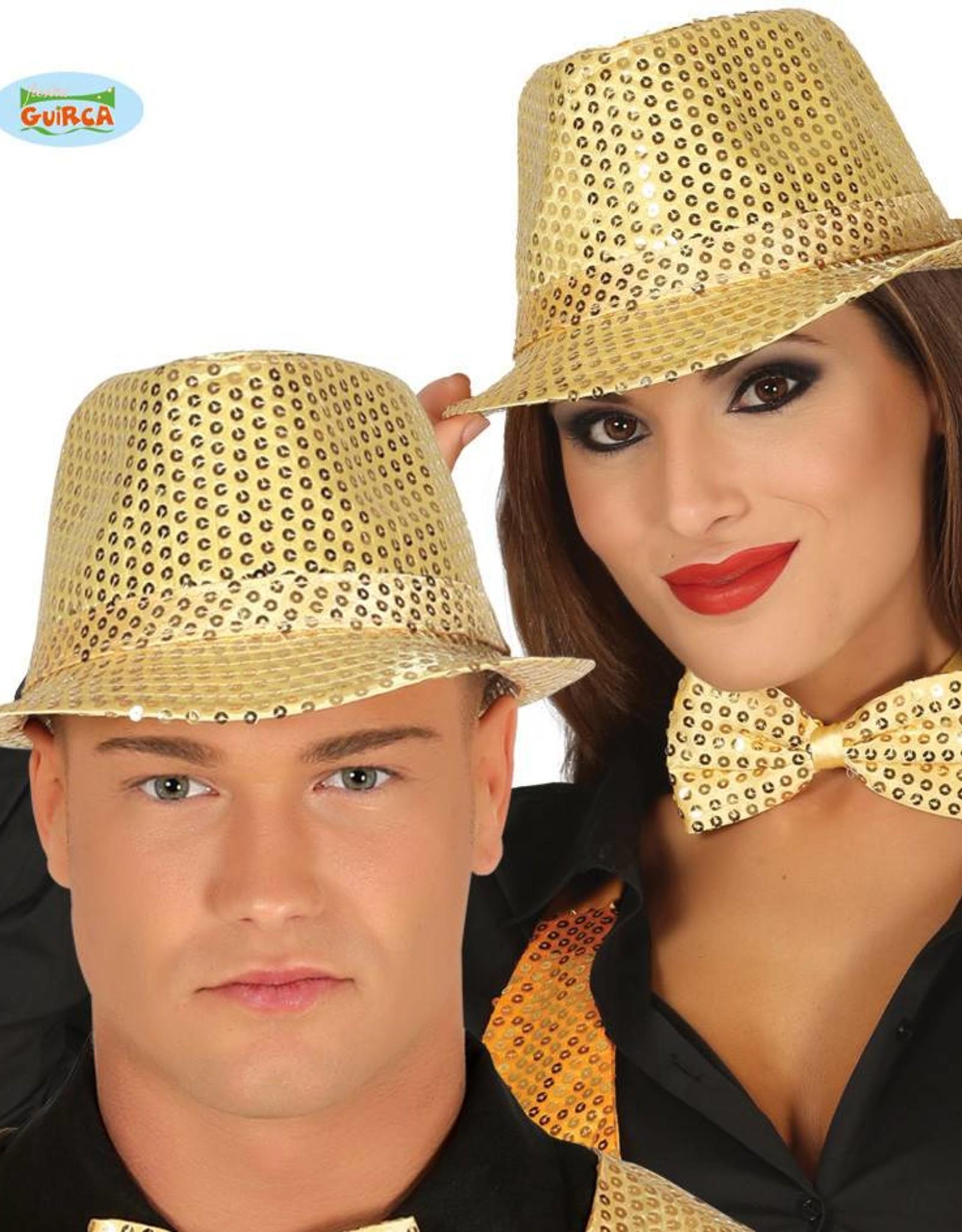 WITBAARD glitter kojak hoed goud