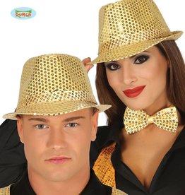 FIESTAS GUIRCA glitter kojak hoed goud