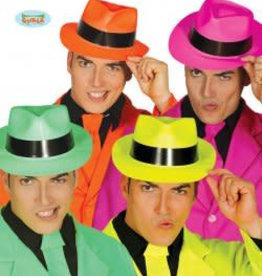 FIESTAS GUIRCA hoed disco neon kleuren plastiek