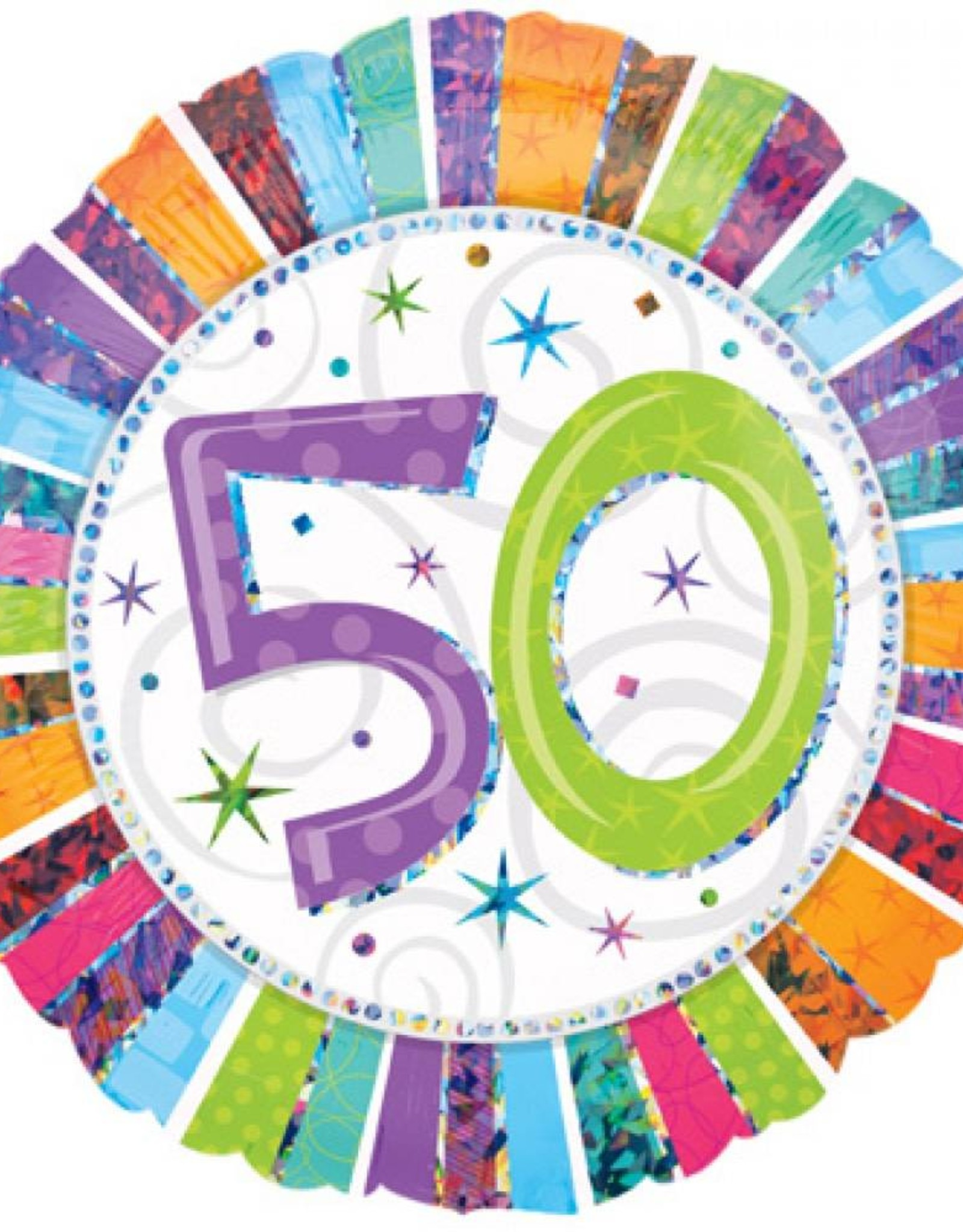 IBS 50jaar folie balloon met helium