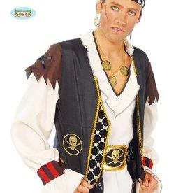 FIESTAS GUIRCA piraat vest zwart