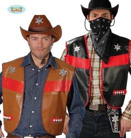 FIESTAS GUIRCA cowboy vest zwart of bruin