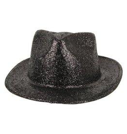 FARAM kojak hoed glitter zwart