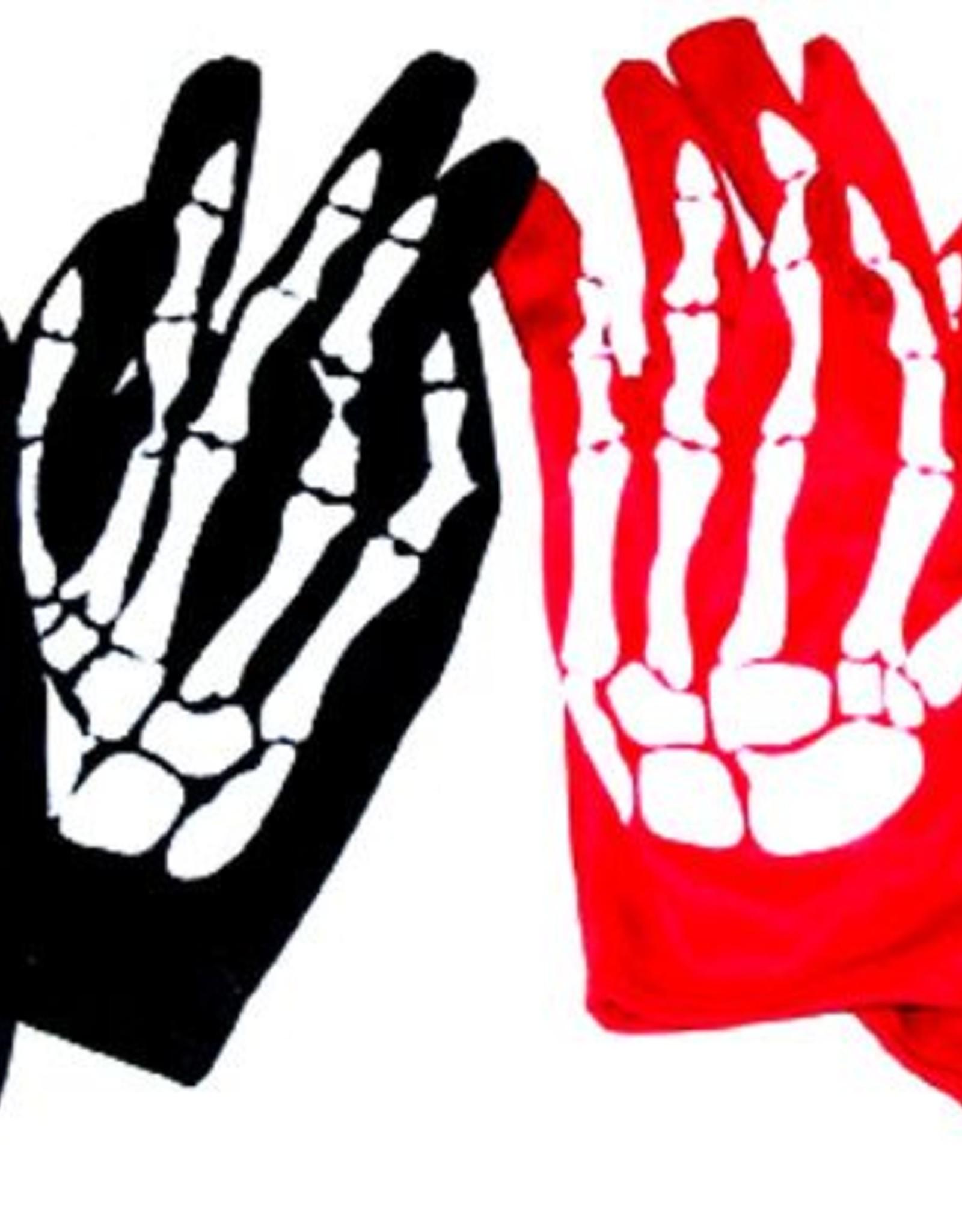 ESPA handschoenen volw. geraamte rood