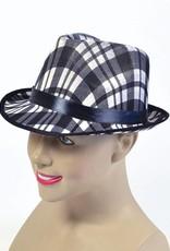 Bristol Novelty Ltd. kojak hoed zwart wit