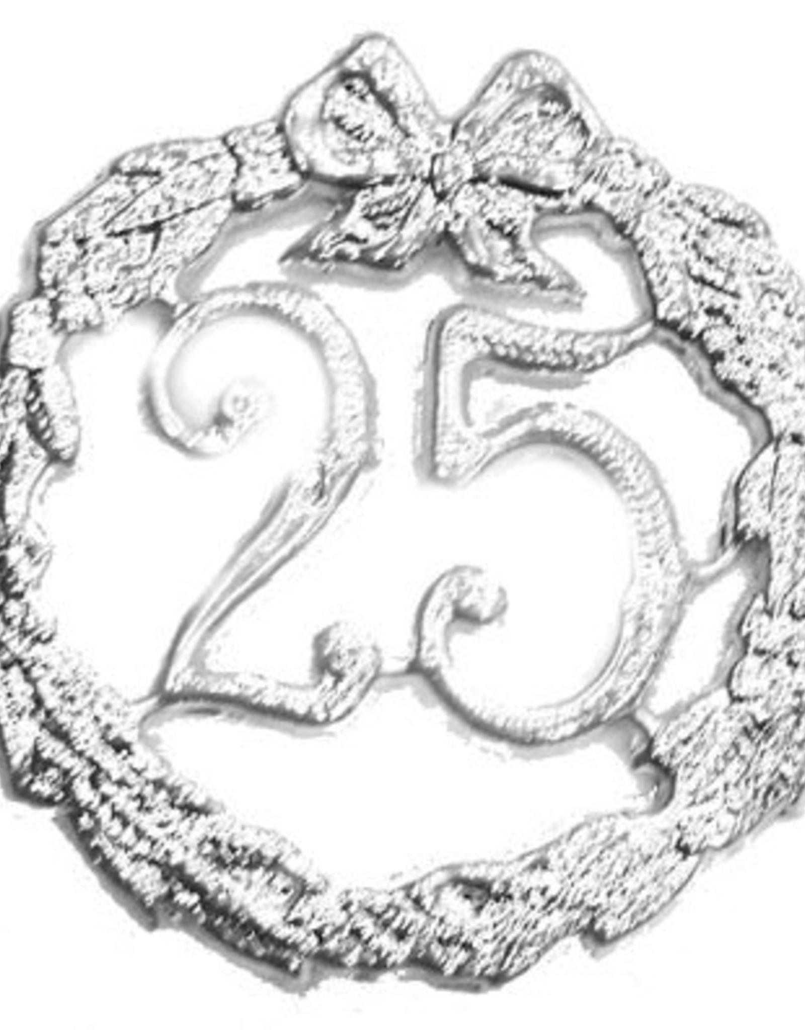 ESPA decoratie 25 zilver 20 cm.