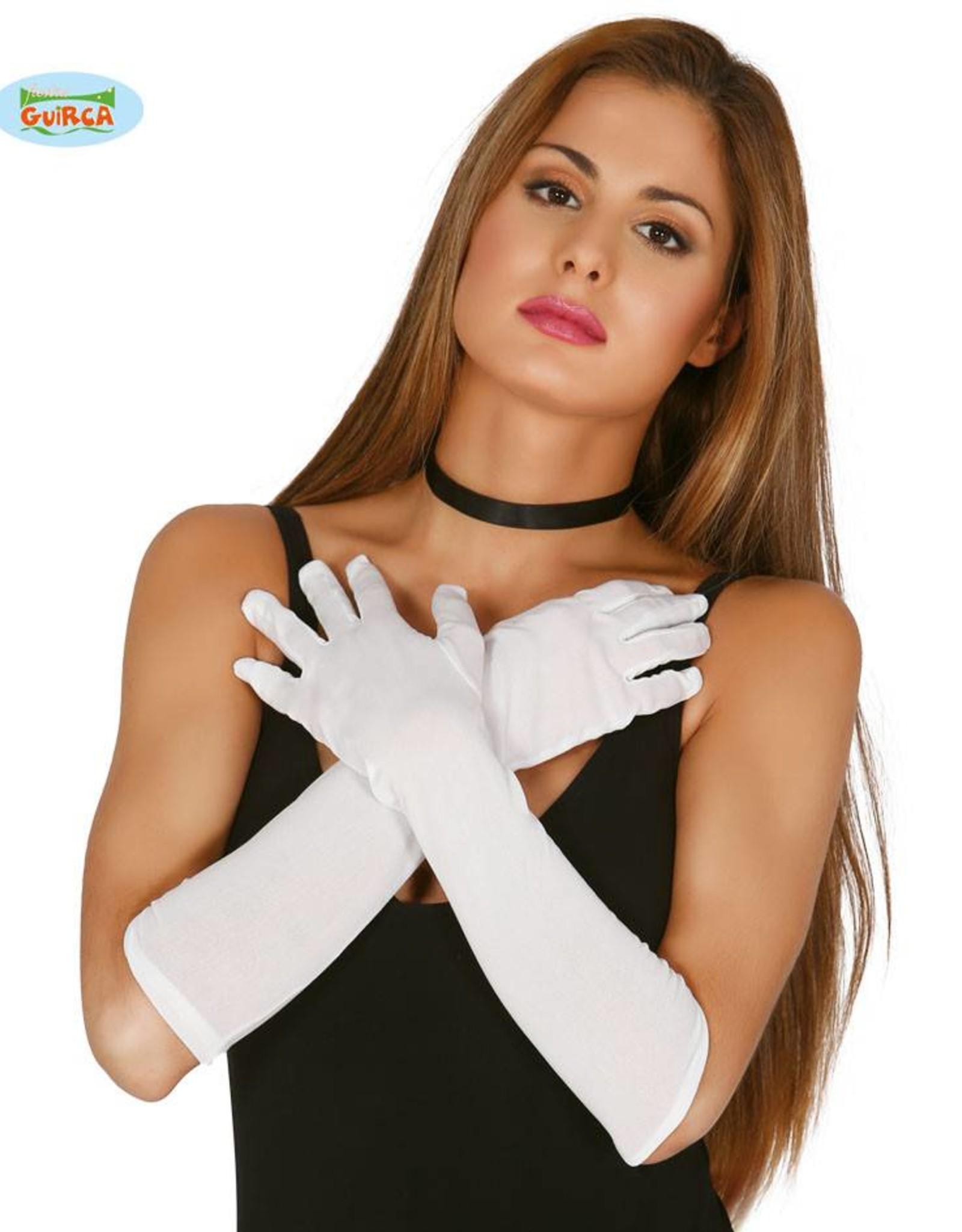 FIESTAS GUIRCA handschoenen wit 45 cm.