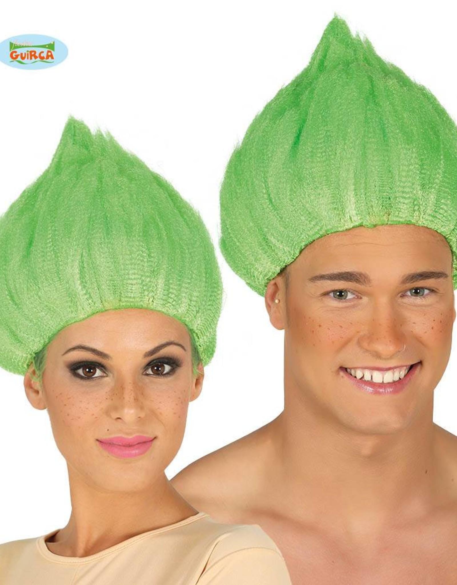 FIESTAS GUIRCA pruik dwerg of elf groen