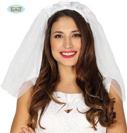 FIESTAS GUIRCA bruidsluier 3 rozen