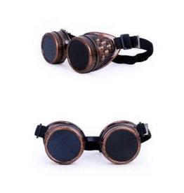 Partyxplosion Steampunk bril koperkleurig