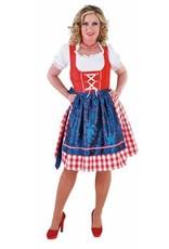 MAGIC Dirndl 3 Delig Rood Blauw huurprijs € 20
