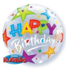 Sempertex avalloons bubbles balloon happy birdhay ster