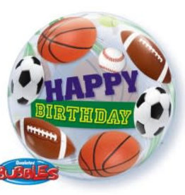 Sempertex avalloons bubbles balloon happy birdhay sportballen