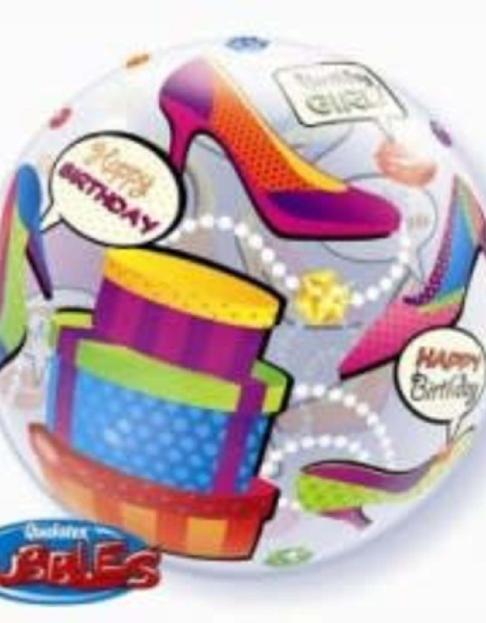 Sempertex avalloons bubbles balloon happy birdhay shopping girl