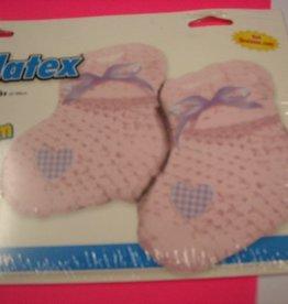 IBS folie baby sokjes meisje met helium