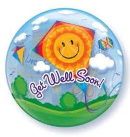 Sempertex avalloons bubbles het gaat goed, vlieger. met helium