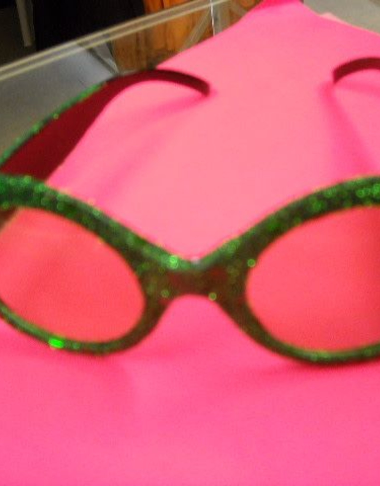 AUGUSTIJNEN disco bril glitter groen
