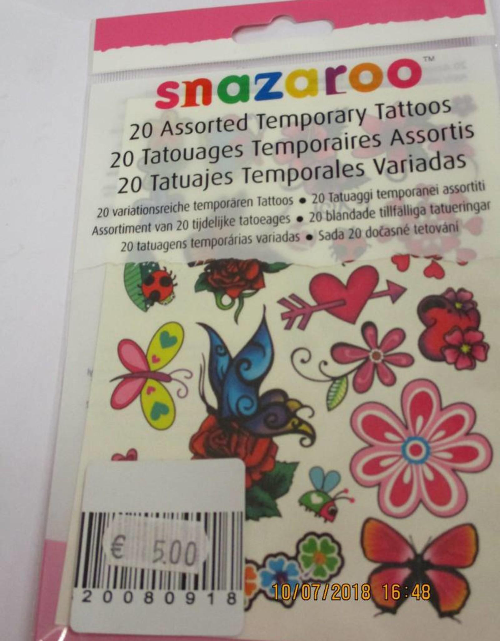 Snazaroo tattoo 20 stuks meisje
