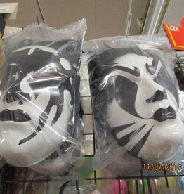 wit zwartmasker met haar