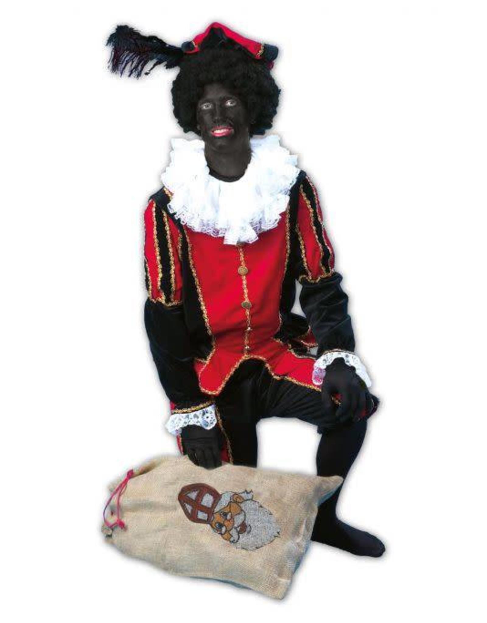 ESPA zwarte Piet lichte veloure zwart rood