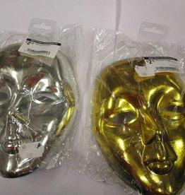 masker effen goud of zilver