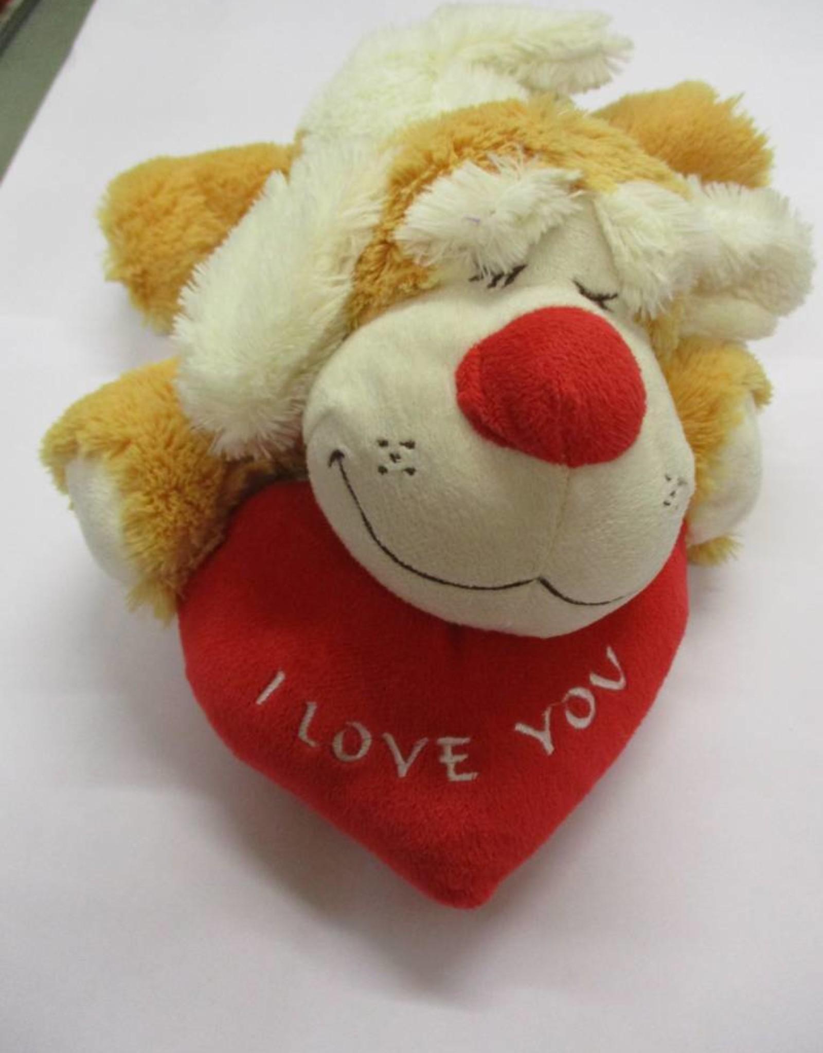 Doho liggende hond met hart