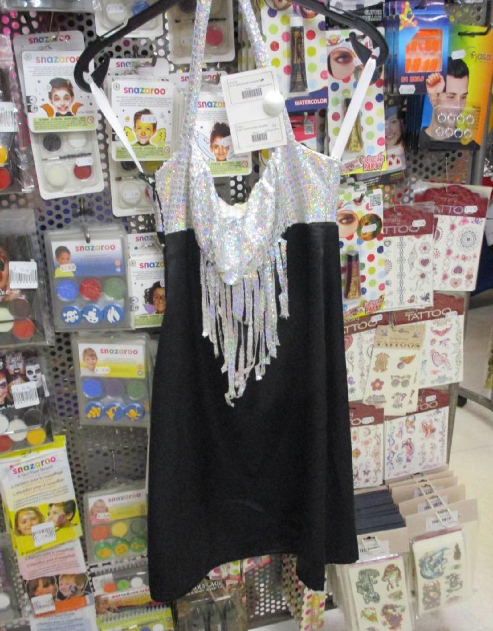 zwart kleedje met glitter huurprijs 10 maat 38