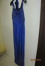 lang blauw disco kleed huurprijs € 20