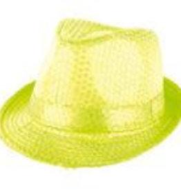 FARAM hoed disco neon geel