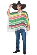 WITBAARD Mexicaanse poncho