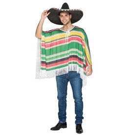 WITBAARD Mexicaanse poncho