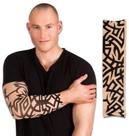 WITBAARD Tattoo mouw zwarte tekening