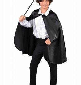 MAGIC korte cape rood of zwart Halloween