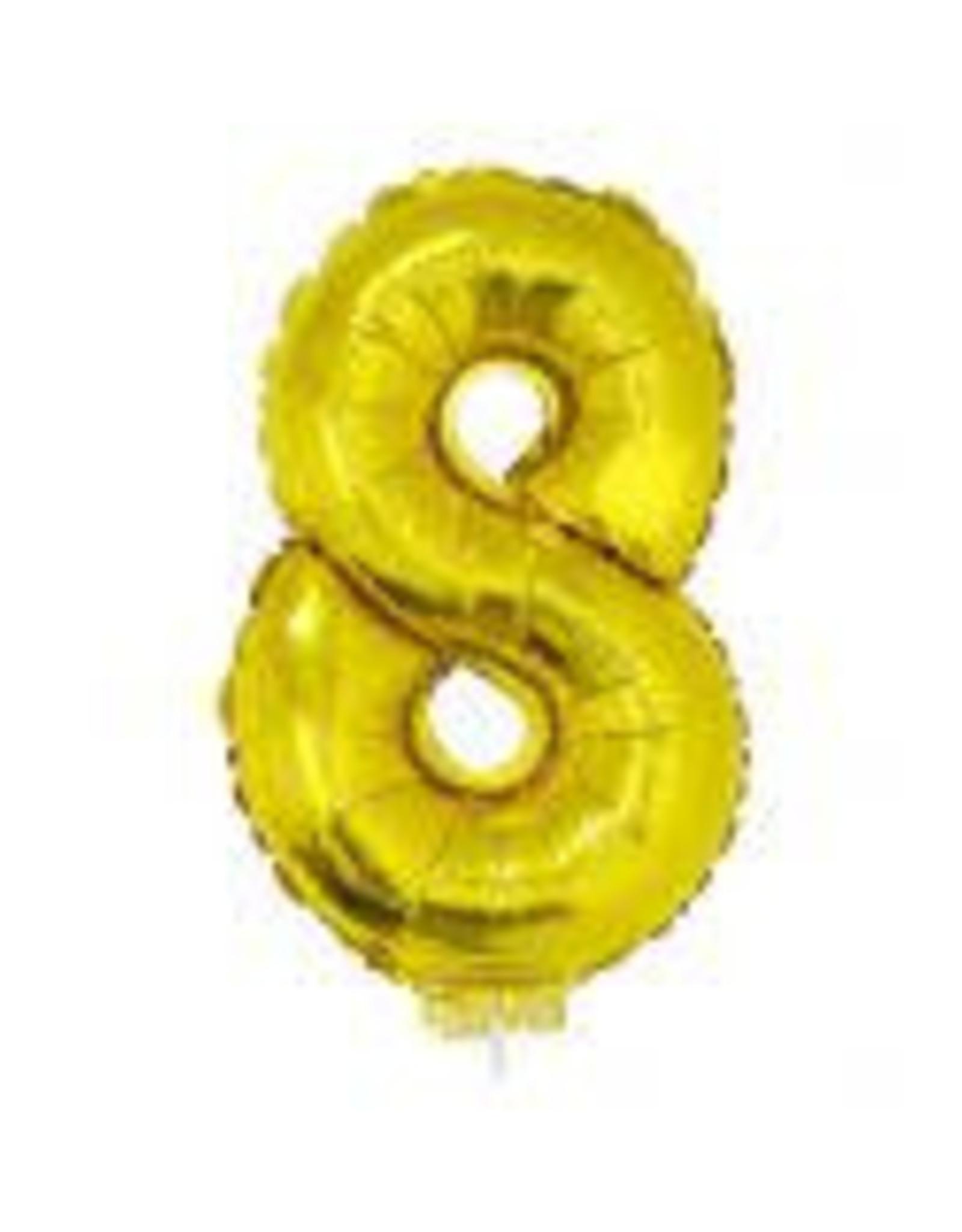 """ESPA getal goud 16"""" op stokje"""