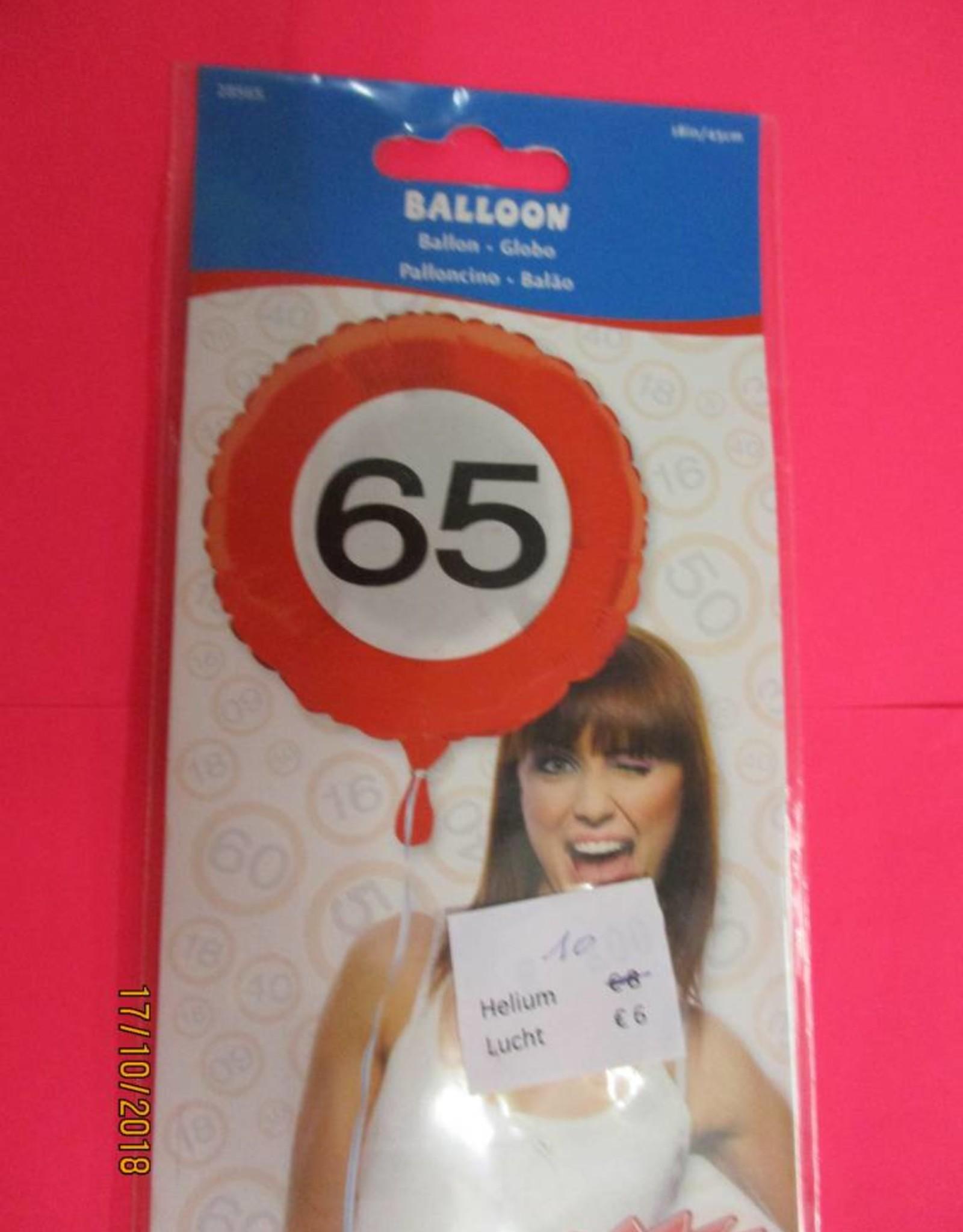 Folat folie verkeersbord 65 met helium