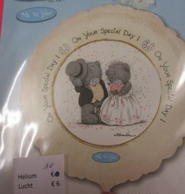IBS folie huwelijk beertjes met helium