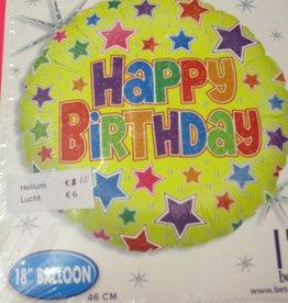 Sempertex avalloons folie verjaardag  geel sterren met helium