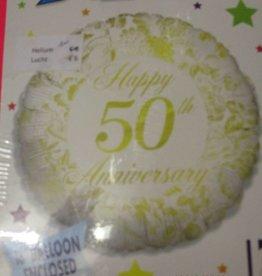 Sempertex avalloons folie happy 50th anniversary met helium