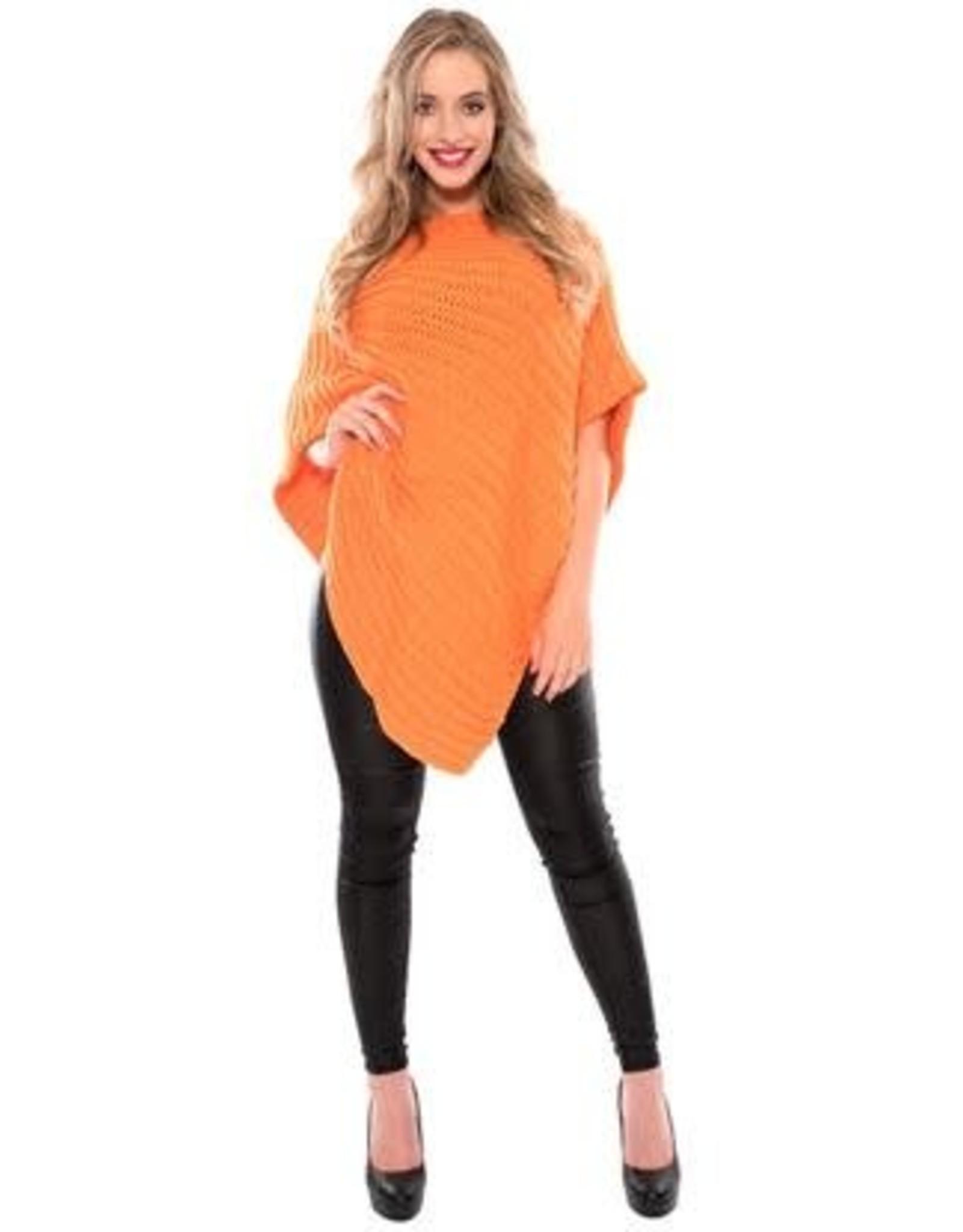 WITBAARD poncho fluor oranje