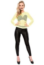 WITBAARD damesshirt gaten fluor geel