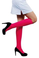WITBAARD voetbalkousen fluor roze 41/47