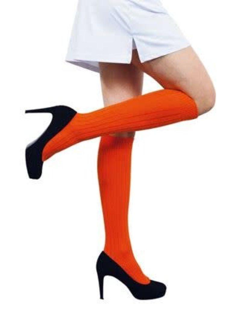 WITBAARD voetbalkousen oranje