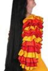 ABC CArnaval pruik lang zwart 94cm