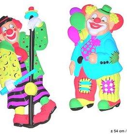 ESPA muurdecoratie ass. clown fluo kleur