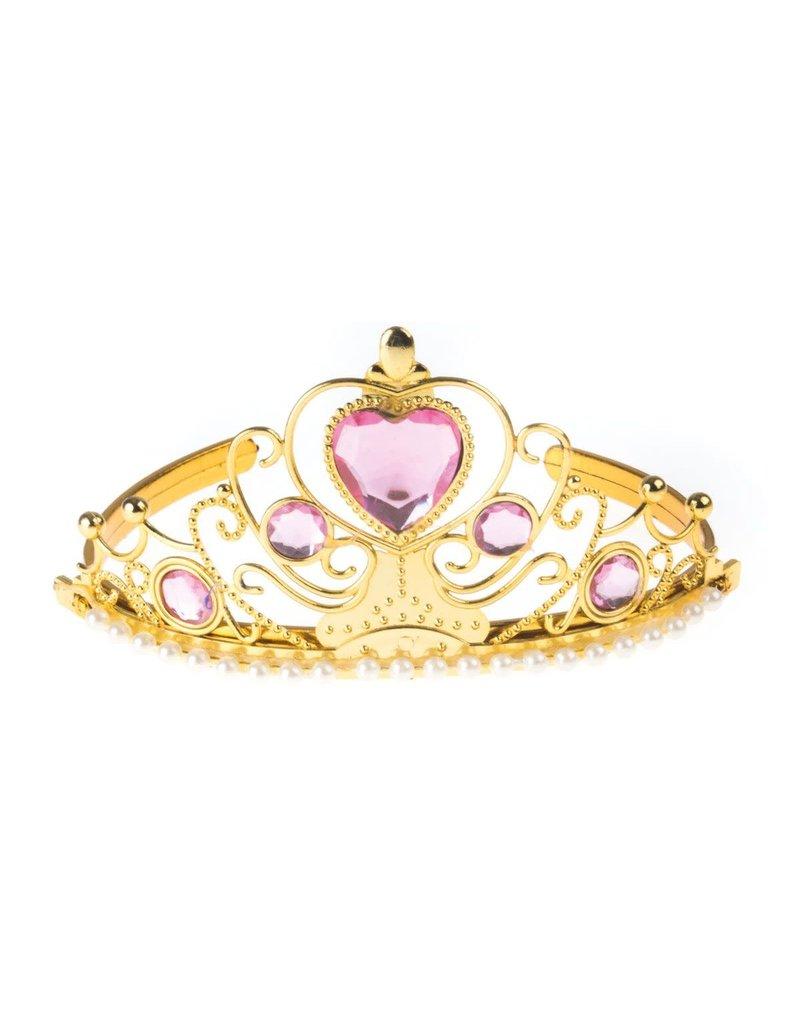 ESPA kroontje goud met roze steen