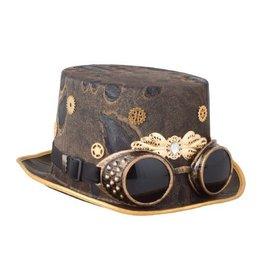 ESPA Hoge hoed steampunk met bril
