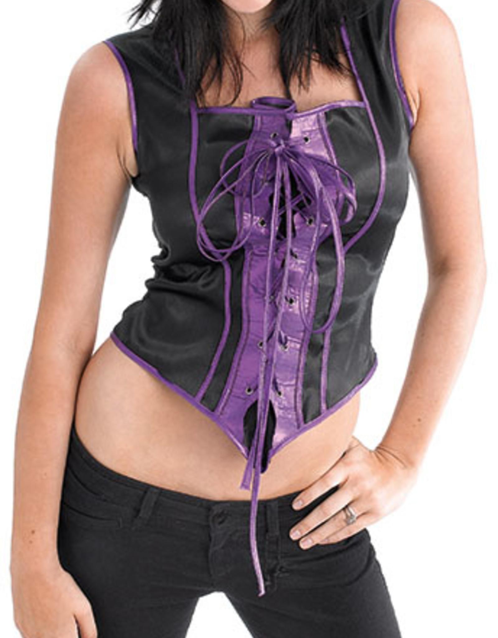 Bristol Novelty Ltd. corset zwart paars