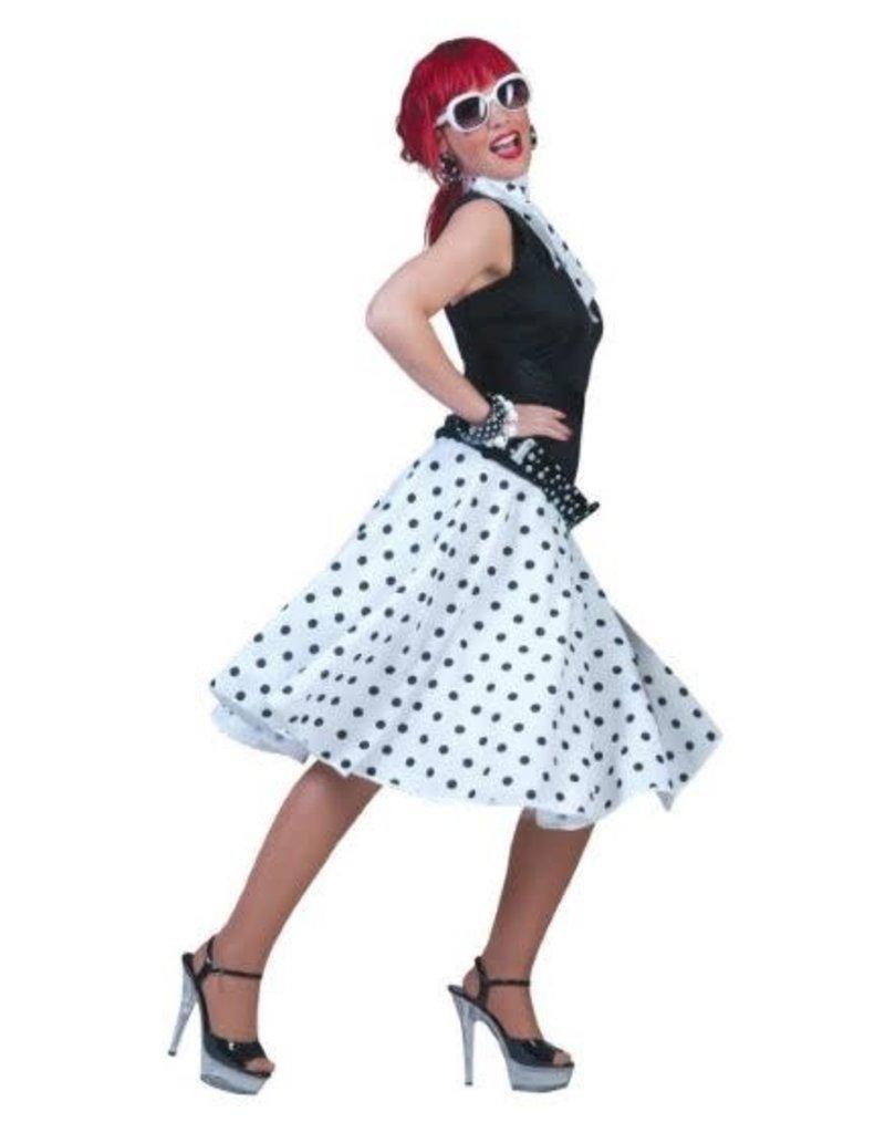 ESPA rok wit met zwarte bollen