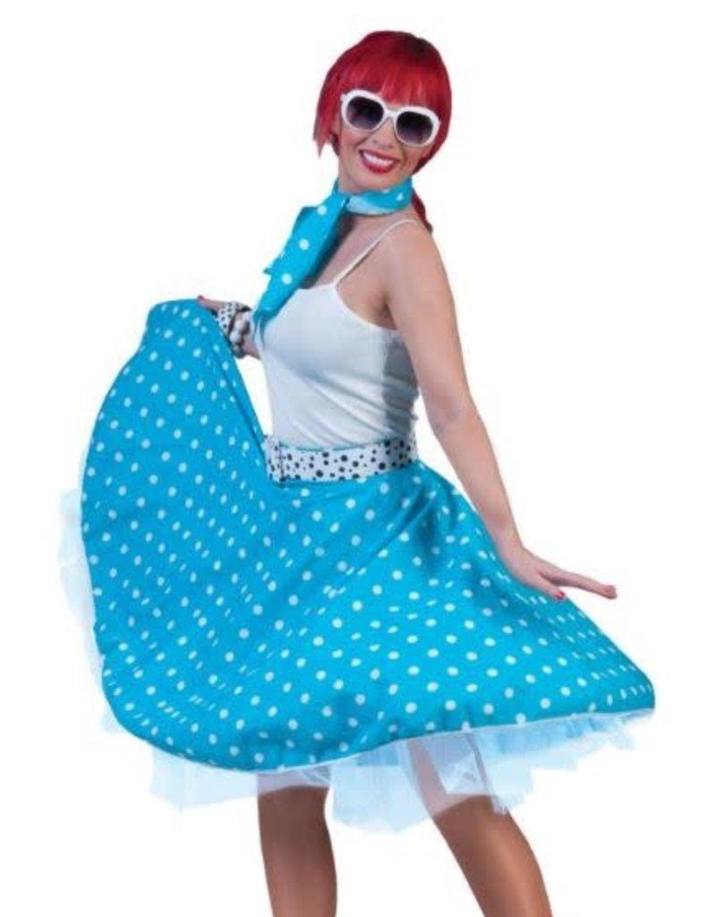 ESPA rok blauw met witte bollen