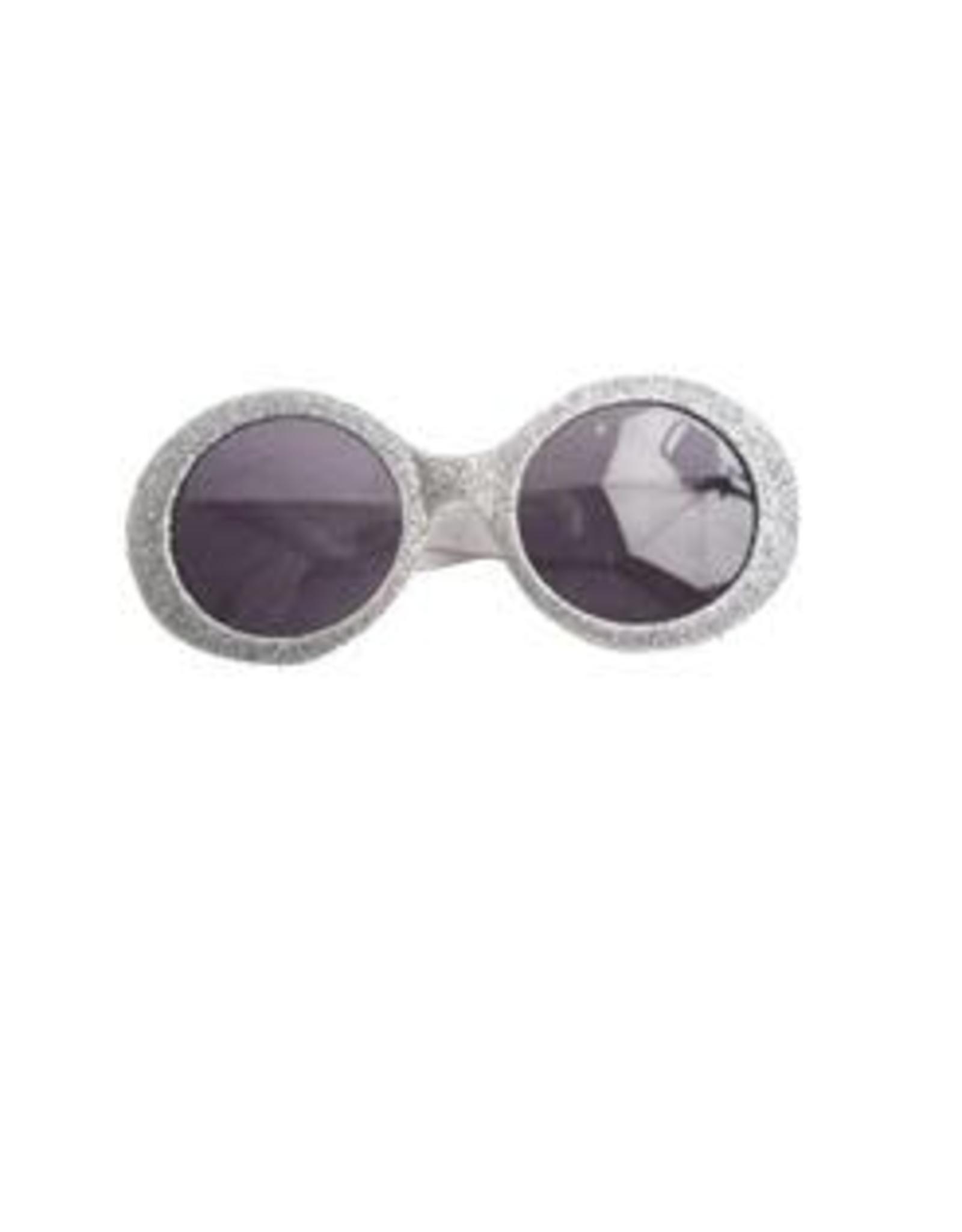 FARAM Bril disco glitter zilver